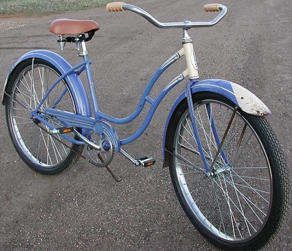 Girls Schwinn Collectible Bicycles : Antique schwinn ladies ballooner cruiser bicycle