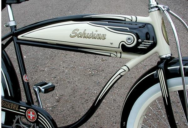 Antique 1950 Schwinn Hornet Ballooner Cruiser Tank Bicycle