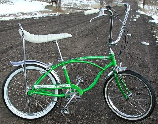 1965 Lime Schwinn Deluxe Stingray Bike 3 Speed Bicycle