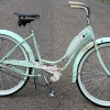 1956 Lime & Rose Schwinn Starlet Ballooner Bike