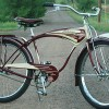 1948 Schwinn B-6 Post War AutoCycle Deluxe Tank Cruiser Bike $2900