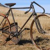 Antique 1911 Racycle Pacemaker Wood Wheel Bicycle with Spring Fork $3880