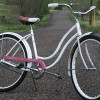 Vintage 1965 Pink & White Schwinn Hollywood Cruiser Bicycle
