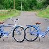 1949 & 1950 Blue His & Hers Vintage Schwinn Ballooner Bikes $1050