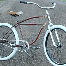 1959 Vintage Schwinn Fat Tire Spit Fire Rat Rod Cruiser Bike