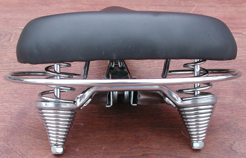 Vintage Bicycle Seats : Seat deluxe antique bicycle reproduction w crash rail