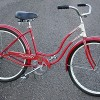 1957 Red Vintage Schwinn Spitfire Ladies Cruiser Bicycle