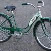 1954 Vintage Forest Green Ladies Schwinn Hornet Bicycle