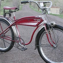 Amazing Antique 1935 Sears Elgin Falcon Ballooner Bicycle $3500