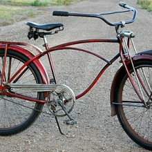Antique 1940 AS Schwinn Packard Auto-Cycle Ballooner Bike B6
