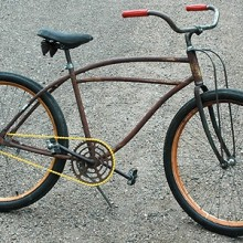 JC Higgins Murray Made Rusto Rat Rod Ballooner Bicycle