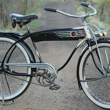 "Vintage 1939 Hawthorne Zep Twin Bar Bicycle ""HP Snyder made"""