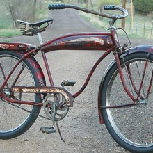 Vintage 1941 Hawthorne Comet Rat Rod Tank Ballooner Bicycle