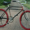 1934-35 Schwinn Lincoln B-9 Motorbike Prewar Cruiser Bicycle