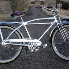 Vintage 1947 Monark Silver King Hex Tube Ballooner Bicycle