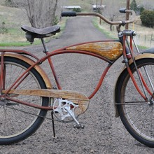 1953 Vintage Schwinn Rusty Red Phantom RatRod Cruiser Bike