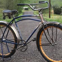 1941 Vintage Iver Johnson Streamline Deluxe Mobike Ballooner Bicycle