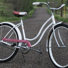 Vintage 1965 Pink & White Schwinn Hollywood Cruiser Bicycle
