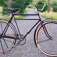1917 Antique Reading Standard Motorbike Wood Wheel Roadster