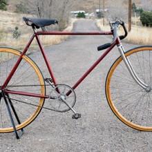 Antique Pierce Arrow Street Racer Wood Wheel Track Bicycle