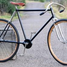 Antique 1904 Pierce Cushion Frame Chainless Wood Wheel Bike