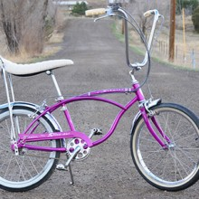 1966 Vintage Schwinn Violet Deluxe 3 Speed Stingray Bicycle