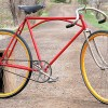 Vintage Red Iver Johnson Truss Bridge Road Racer Track Bike