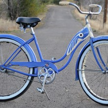 1946 Vintage Ladies BF Goodrich Schwinn DX Fat Tire Cruiser Bike $550