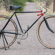 Vintage Iver Johnson Diamond Frame Special Roadster Bicycle