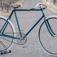 Antique 1899 Spalding Racer TOC Wood Wheel Track Bicycle $3000