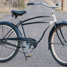 1949 Vintage Black Schwinn DX Balloon Tire Cruiser Bicycle $850