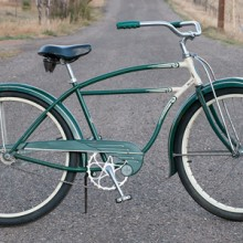 1949 Vintage Green Schwinn Hornet Paper Boy Cruiser Bicycle