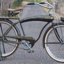 Vintage 1941 Firestone Bull Nose Cruiser Colson Tank Bicycle $2600