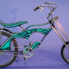 1999 Lux Low Cool Hot Blue Chopper Bicycle