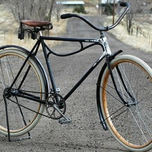 1914 Crown Great Western Manufacturing Wood Wheel Bicycle