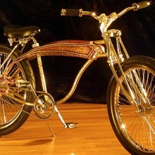 2004 Lux Low Golden Boy Lowboy Chopper Bike