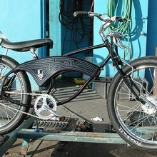 1999 Luxury Lowrider Black Death Low Boy Chopper Bicycle