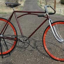 Antique Iver Johnson Truss Bar Fixed Gear Track Racing Bike