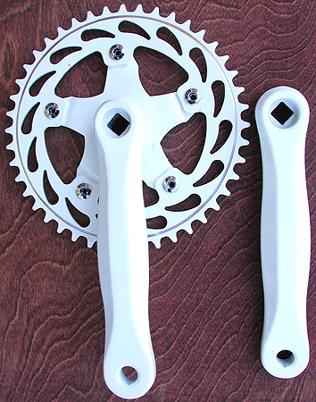 Fixie Cranks 44t: Fixed Gear Single Speed Track Road Bike Cranks, Many Colors, 170mm x 44 tooth
