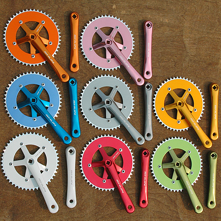 Fixie Track Cranks 48t: Fixed Gear Single Speed Road Bike Cranks, Many Colors, 170mm x 48 tooth