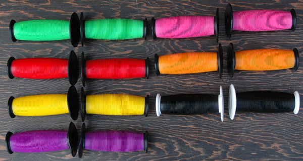 Grips: 2 Tone Turbo Fixie Old School BMX Mushroom Grips comes in Many Colors