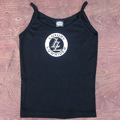 Tee: Cute Luxury Lowrider Bike Logo Spaghetti Tank Top