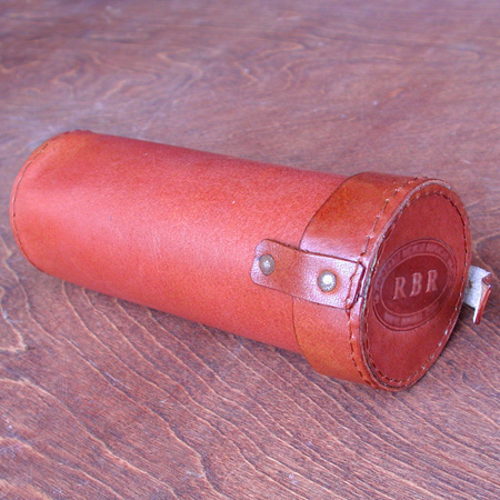 Tool Bag: Tubular Antique Bicycle Style Tool Pouch for Hairpin Saddles
