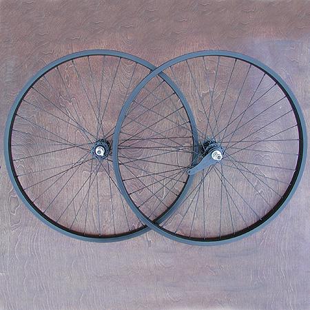Wheels: New Black Alloy 26″ Cruiser Bike Wheels A-Set